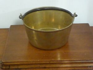 Vintage Brass Jam/Preserving Pan Heavy Gauge with Iron handle ~ weight 3.2kg
