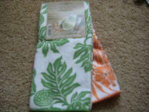 Microfiber Kitchen Towels Dish Cloth (Towel set of 2) Hawaiian Hawaii breadfruit
