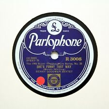 "BENNY GOODMAN SEXTET ""She's Funny That Way"" PARLOPHONE R-3008 [78 RPM]"