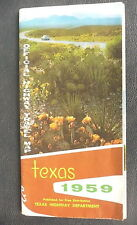 1959  Texas  official highway state road map