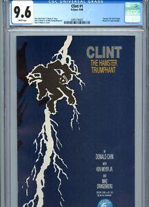 Clint #1 CGC 9.6 WP Black Belt Hamsters Spin-Off Eclipse Comics 1986