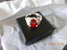 NIB Elegant Lady CZ Red Ring- Scarlet Size 9