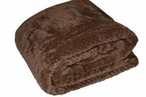 Brown Fleece Sofa / Bed Honeycomb Waffle throw / blanket / double / king