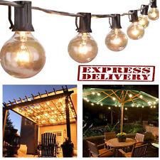 Outdoor String Lights G40 Globe Bulbs Patio Yard Garden Waterproof Lighting 25FT