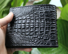 Crocodile Leather Skin Men's bifold wallet, Two crocodile leather sole VNVSS19