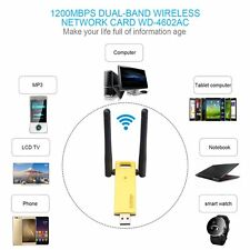 1200Mbps 2.4G/5.8GHz Dual Band 802.11ac Wireless USB 3.0 WIFI Adapter Antenna GV