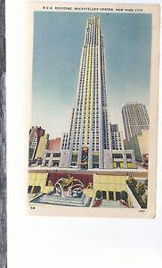 R C A Building Rockefeller Center New York   Mailed 1945  Postcard 634