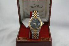 Lucien Piccard Dufonte Vintage 80s Mens Quartz Gold  Watch Genuine Diamond BOX!