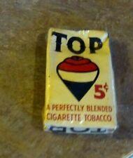 RARE! Antique Vintage Pre 1940's Top Tobacco 5c Cigarettes Package  RJ Reynolds