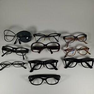 Lot Of 10 Sunglasses Frames Ray Ban Wayfarer Coach Georgio Armani Dior Tom Ford
