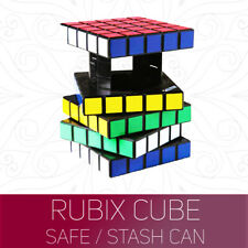 Official Rubiks Cube Safe Puzzle Money Stash Secret Compartment Storage Box