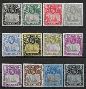 ASCENSION SG10/20 1924 DEFINITIVE SET MTD MINT