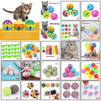 Colorful Cat Bell Balls Toys Pet Sound Rattle Playing Chew Interactive Toy Gift