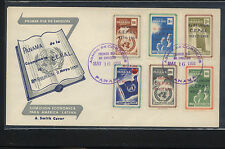 Panama  overprinted stamps on  cachet  cover          KL0623