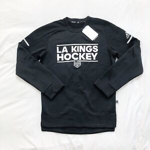 NWT Adidas Mens D78607 NHL LA Kings Crew Sweatshirt - Black Size Small $90