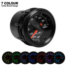 Car 7 Color LED Turbo Boost Psi Pressure Vacuum Pointer 2'' 52mm Gauge Meter UK