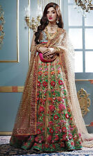 Indian Designer Bridal Wedding Lehenga Choli Dupatta 3 Pcs Anarkali Heavy 3730