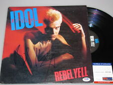 """BILLY IDOL Hand Signed LP + PSA DNA COA  """"Buy Authentic"""""""