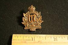 Ww1 Collar Dog Badge Eastern Townships Overseas Battalion #117 Vintage Original