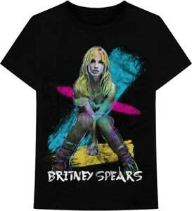 Britney Spears Neon Chalk Photo 90s Teen Pop Dance Singer Music T Shirt 37821027