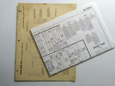 Bally Show Time Bingo Pinball Manual And Game Schematic Wiring Diagram 1957