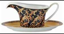 VERSACE BAROCCO GRAVY BOAT UNDERPLATE SET SAUCE 18oz. NEW $800