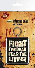 THE WALKING DEAD FIGHT DEAD FEAR LIVING RUBBER KEYRING NEW OFFICIAL MERCHANDISE