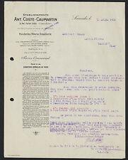 "LACANCHE (21) FONDERIE TOLERIE EMAILLERIE ""ANT. COSTE & CAUMARTIN"" en 1928"