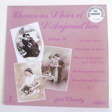 33T CLAUDY & MARCELLO Vinyle LP CHANSONS D'HIER ET D'AUJOURD'HUI 10 -VALMY 778