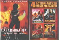 EXTERMINATOR 1-2: Robert Ginity-Plus Cyclone-Alienator-Eye of the Tiger-NEW DVD