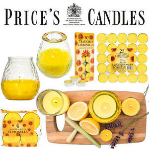 Prices Candles Citronella Scented Candles - Repel Unwanted Flying Insects