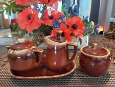 New listing Vintage Brown and White Coffee/Tea -Set of 4