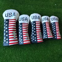 USA Flag Star Driver Wood Headcover FW Fairway Hybrid UT Cover for Taylormade