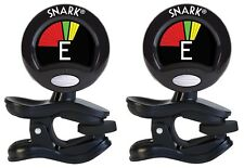 Snark Tuner TWO PACK Clip On Chromatic for guitar and violin SN-5X