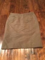 Armani Collezioni Brown Silk  Pencil Skirt, Size 8 (US) 42 (IT), NWT!
