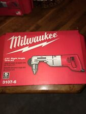 """Milwaukee Right Angle Drill 1/2"""" 7 Amp Corded  w/Case 3107-6 NEW"""