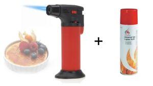 Flambierer Bunsenbrenner Feuerzeug Gasbrenner Creme Brulee Brenner / Gas NEU OVP