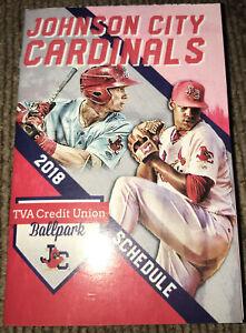 Johnson City Cardinals--2018 Pocket Schedule--Alex Reyes STL Cardinals