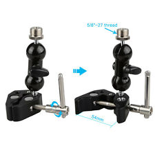 """US CAMVATE Crab Clamp Clip Mini Ball Head Mount with 5/8"""" Male for Microphone"""