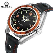 ORKINA SEAMASTER Homage Diver Style Watch 007 Spectre Orange Rally