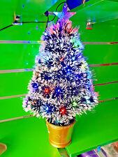 2ft 60cm Green Snow White Small Pre Lit LED Star Fibre Optic Christmas Tree Xmas