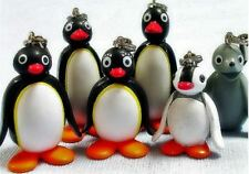 Pingu Figure Strap Set of 6 Completed Pinga Robby Doll combine save Japan New