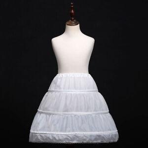 Flower Girl Dress Kids A-Line Crinoline Petticoat Underskirt Children Dress Slip