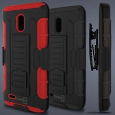Holster Belt Clip Hybrid Combo Phone Cover Case for Alcatel One Touch Conquest