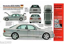 1997/1998 MERCEDES BENZ E55 / e-55 AMG SPEC Hoja / Folleto