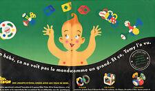 Publicité Advertising 1995 (Double page) TOMY jouets d'éveil pour bébé