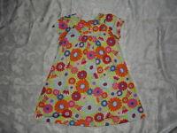 Girls HANNA ANDERSSON Floral DRESS Sz 110 5-6 yrs.