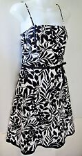 BCX Black White Floral Print Tulle Swing Homecoming Party Dress Sundress Size 9