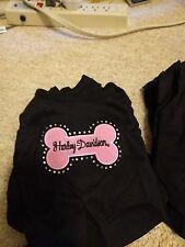 XSmall Harley Davidson pink bone with rhinestones adorble tee shirt