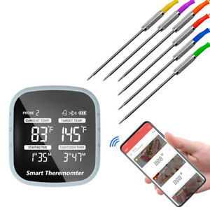 Wireless Thermometer Kitchen Cooking Thermometer with 6 Probes for BBQ Machine